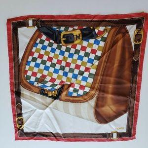Fendi Silk Handkerchief Scarf - Multi-Color